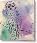 Cecil The Sad Owl Metal Print