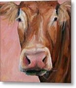 Cecilia The Cow Metal Print