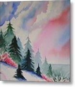 Cedar Fork Snow Metal Print