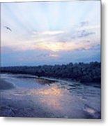 Cedar Island Sunrise 1 Metal Print