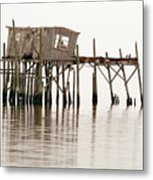 Cedar Key Structure Metal Print by Patrick M Lynch