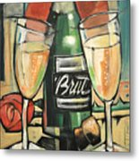 Celebrate With Bubbly Metal Print