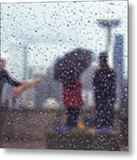 Celebration In Rain A036 Metal Print