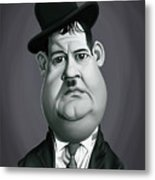 Celebrity Sunday - Oliver Hardy Metal Print