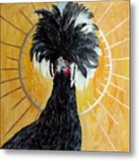 Celestial Chicken - Lady Hawk Metal Print