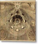 Celestial Map 1710b Metal Print