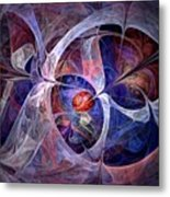 Celestial North - Fractal Art Metal Print