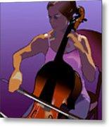 Cellist II Metal Print