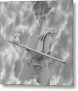 Cello In The Clouds Metal Print