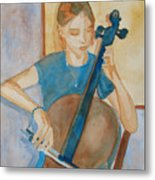 Cello Practice Iv Metal Print