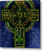 Celtic Cross - Harp Metal Print