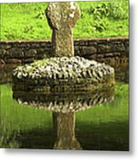 Ancient Celtic Cross At St Patrick Well Metal Print