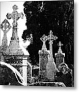 Celtic Crosses At Fuerty Cemetery Roscommon Ireland Metal Print