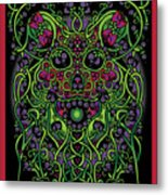 Celtic Day Of The Dead Skull Metal Print