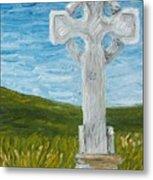 Celtic High Cross Metal Print