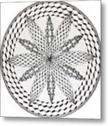 Celtic Knot Mandala Metal Print