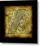 Celtic Letter A Monogram Art Print By Kristen Fox