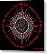 Celtic Lovecraftian Cosmic Monster Deity Metal Print