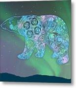 Celtic Polar Bear Metal Print