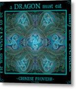 Celtic Snakes Mandala Metal Print