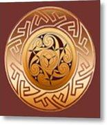 Celtic Spiral And Key Pattern Metal Print