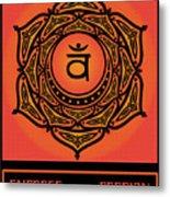 Celtic Tribal Sacral Chakra Metal Print