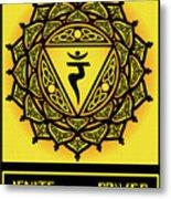 Celtic Tribal Solar Plexus Chakra Metal Print