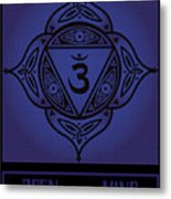 Celtic Tribal Third Eye Chakra Metal Print