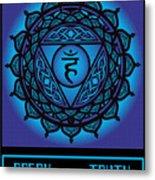 Celtic Tribal Throat Chakra Metal Print