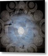 Celtic Triple Moon Goddess Mandala Metal Print