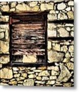 Cement Factory Window Metal Print