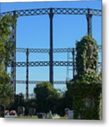Cemetery And Gas Works Metal Print