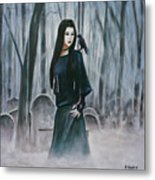 Cemetery Chic Metal Print
