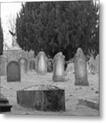 Cemetery Church Of St. Mary Wedmore Metal Print