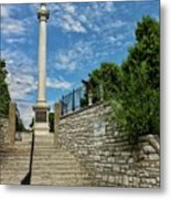 Cemetery Entrance And Lovejoy Monument  Metal Print