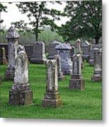 Cemetery Grunge Metal Print