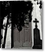 Cemetery Shadow Metal Print