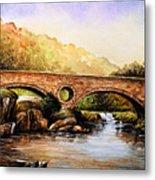 Cenarth Bridge And Falls Metal Print