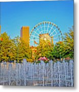 Centennial Fountains Metal Print