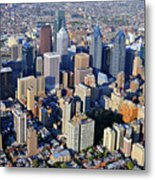 Center City Philadelphia Large Format Metal Print by Duncan Pearson