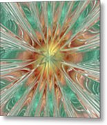 Center Hot Energetic Explosion Metal Print