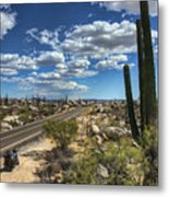 Center Of The Baja Metal Print