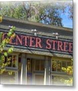 Center Street Cafe Sign Metal Print
