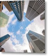 Central Business District In Singapore Metal Print