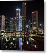 Central Business District, Singapore Metal Print
