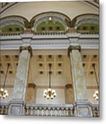 Central Library Milwaukee Interior Metal Print