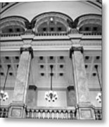 Central Library Milwaukee Interior Bw Metal Print