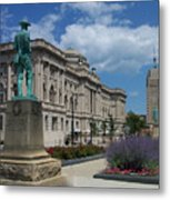 Central Library Milwaukee Street View Metal Print