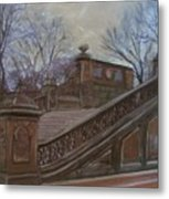 Central Park Bethesda Staircase Metal Print
