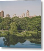 Central Park In Summer Metal Print